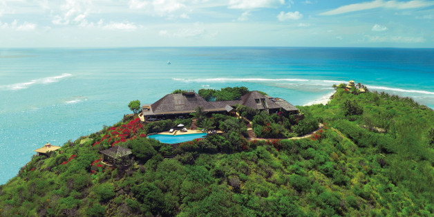 Undated handout photo issued by Virgin Limited Edition of Sir Richard Branson's luxury home, on Necker Island, in the Caribbean, which has been damaged by a middle-of-the-night fire which ripped through the luxury home.