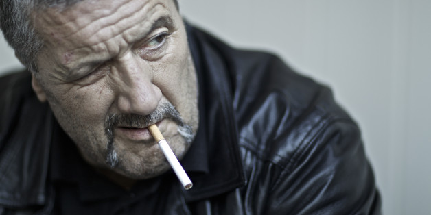 SYDNEY, AUSTRALIA - OCTOBER 7: (AUSTRALIA & NEW ZEALAND OUT) Mark 'Chopper' Read, for profile piece to go with his new book  One Thing Led to Another. (Photo by Jon Reid/The Sydney Morning Herald/Fairfax Media via Getty Images).