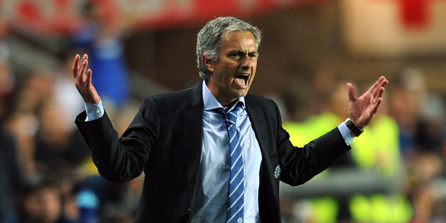 PRAGUE, CZECH REPUBLIC - AUGUST 30: Chelsea manager Jose Mourinho gestures on the touchline during the UEFA Super Cup match between Chelsea and Bayern Muenchen at Eden Stadium on August 30, 2013 in Prague, Czech Republic. (Photo by Chris Brunskill Ltd/Getty Images)
