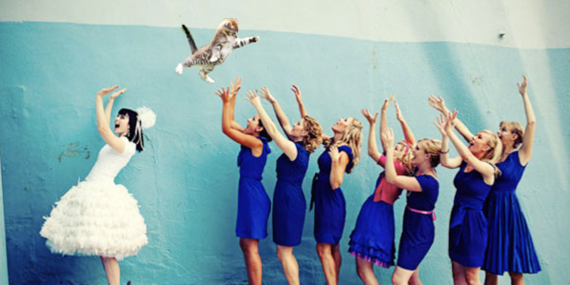 Brides Throwing Cats Will Have You Laughing From Now Through Wedding Season