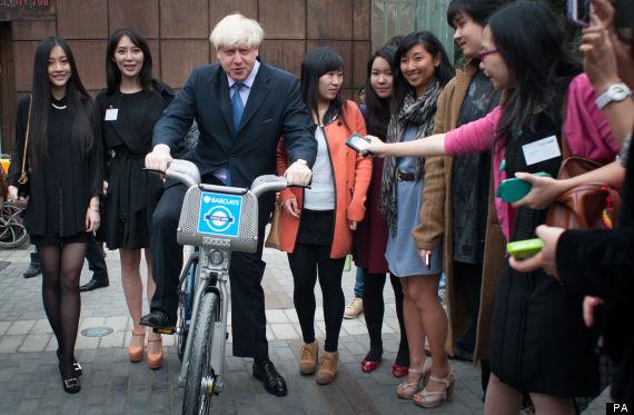 boris johnson china bike