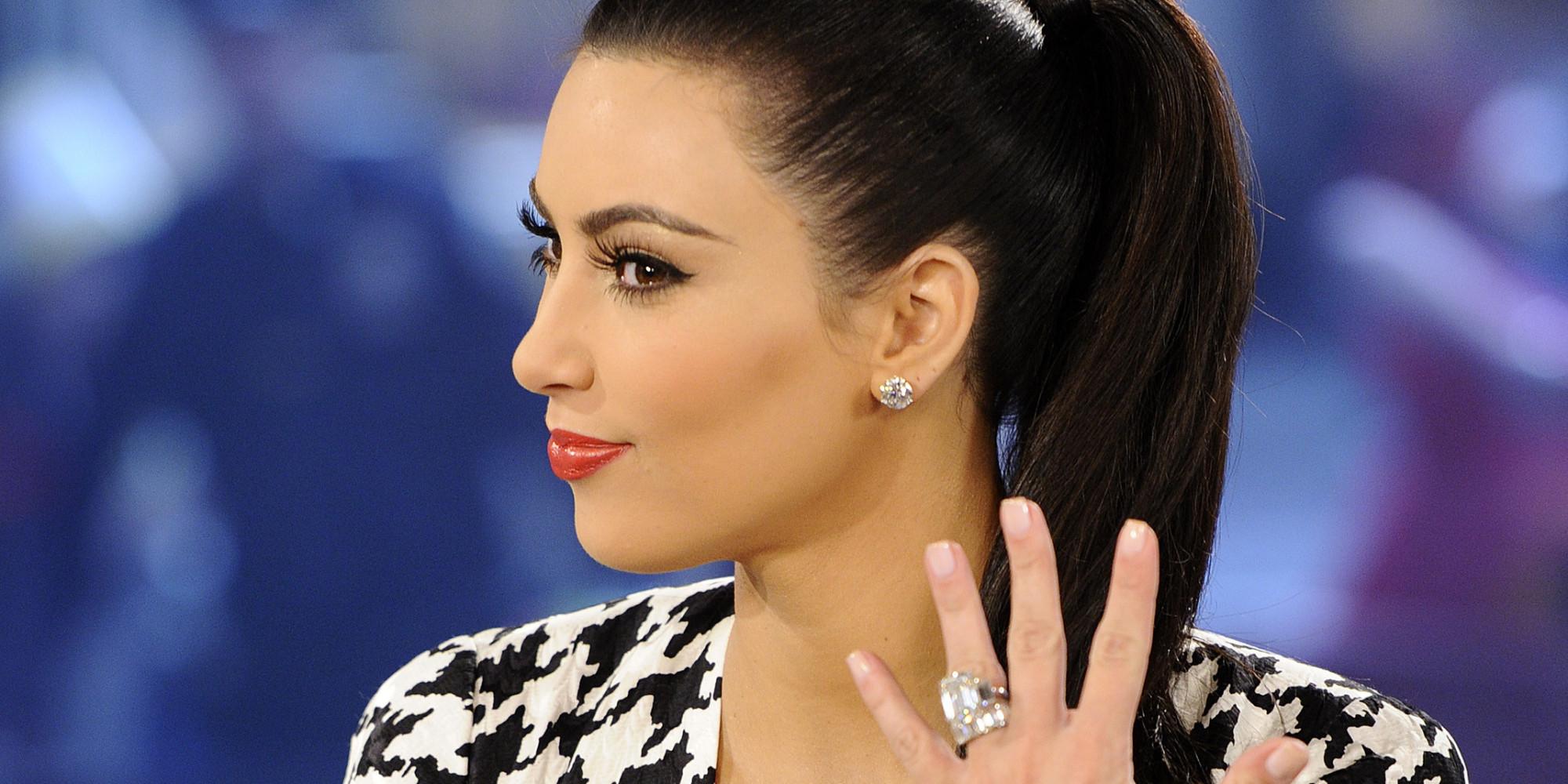 Look - Kim gets kardashian engaged video