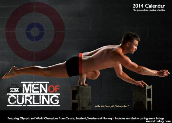 team nude Calendar curling