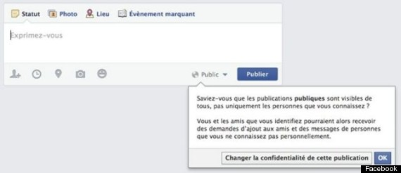 facebook confidentialite