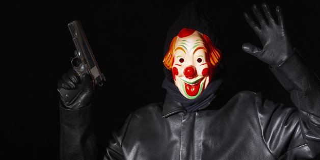 The clown assassin struck at a family gathering (file image)