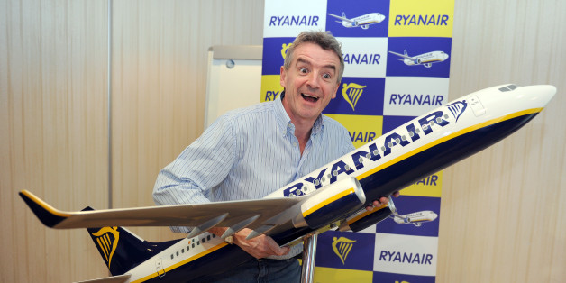 Irish budget airline Ryanair CEO Michael O'Leary poses for photographers after a press conference in Marignane near Marseille-Provence airport, southern France, on February 1, 2011. Ryanair, Europe's biggest no-frills airline head said he will reopen for the upcoming summer season flights cancelled due to the closure of their Marseille's France base, last January, following a legal action against the company for illegal working practices.    AFP PHOTO/GERARD JULIEN (Photo credit should read GERARD JULIEN/AFP/Getty Images)