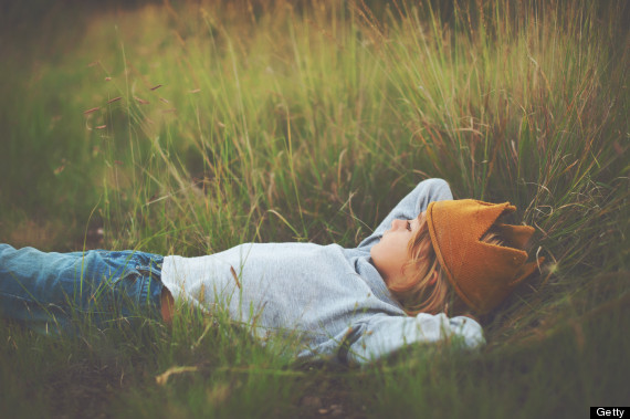 daydreaming child