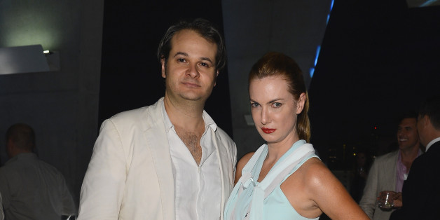 MIAMI BEACH, FL - DECEMBER 07:  Yan Assoun and model Polina Proshkina attend a party as Moncler Celebrates Its 60th Anniversary At Art Basel Miami Beach on December 7, 2012 in Miami Beach, Florida.  (Photo by Venturelli/Getty Images for Moncler)