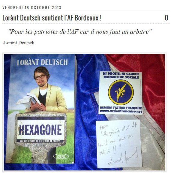 lorant deutsch action francaise