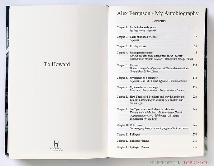 alex ferguson autobiography spoof