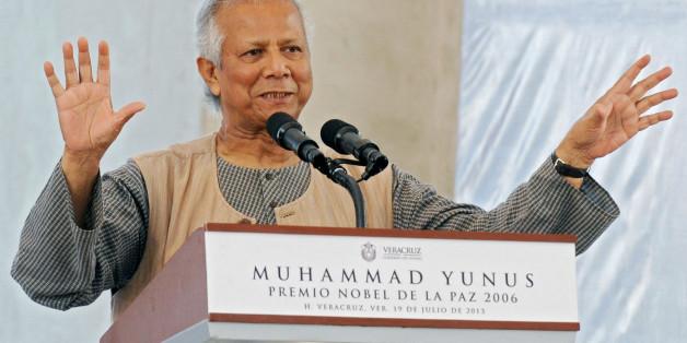 Bangladeshi 2006 Nobel Peace Prize winner and microcredit pioneer Muhammad Yunus