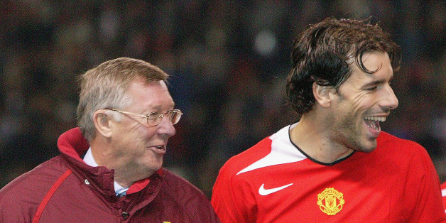 Van Nistelrooy with Ferguson ahead of the Scot's 1,000th match in charge of United. The Dutchman scored the winner