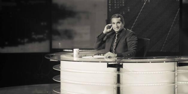 """Bassem Youssef dans son émission """"L'émission"""""""