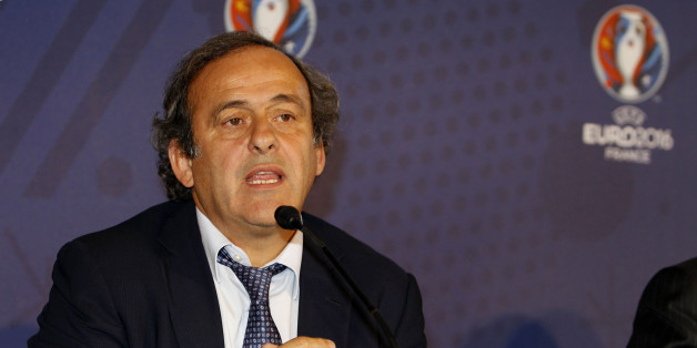 MARSEILLE, FRANCE - OCTOBER 17: UEFA president Michel Platini during the EURO 2016 Steering Committee Meeting, on October 17, 2013 in Marseille, France.  (Photo by Christophe Pallot/Agence Zoom/Getty Images)