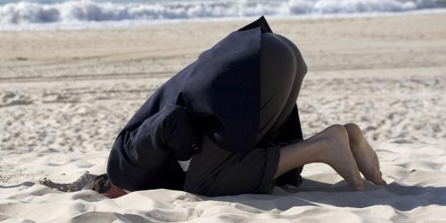 Einfach mal den Kopf in den Sand stecken – das tun wir gerne