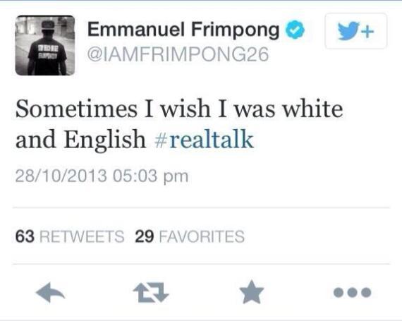 emmanuel frimpong racism tweet