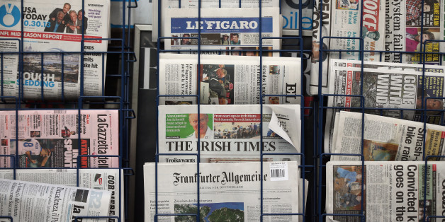 LONDON, ENGLAND - OCTOBER 30:  A general view of a newspaper stand on Fleet Street on October 30, 2013 in London, England. The publishers of UK newspapers and magazines are at the High Court in London today seeking an injunction to prevent a royal charter being passed on the government's plan for a new press regulation.  (Photo by Dan Kitwood/Getty Images)