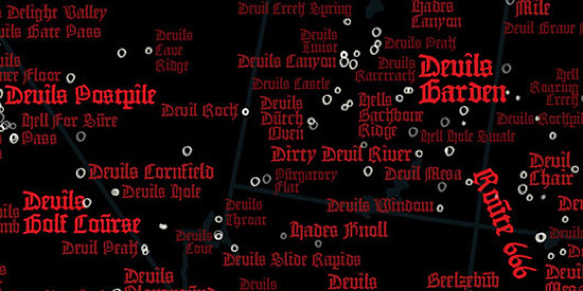 Devil Map Of United States Is A Diabolical Trip Through ...