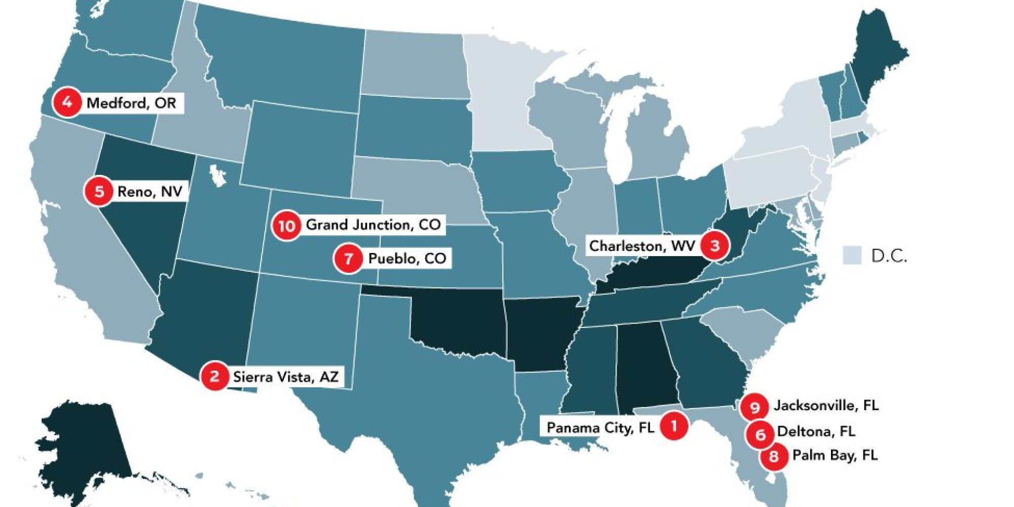 This Map Of US Divorce Rates Shows Where Marriages Go To Die