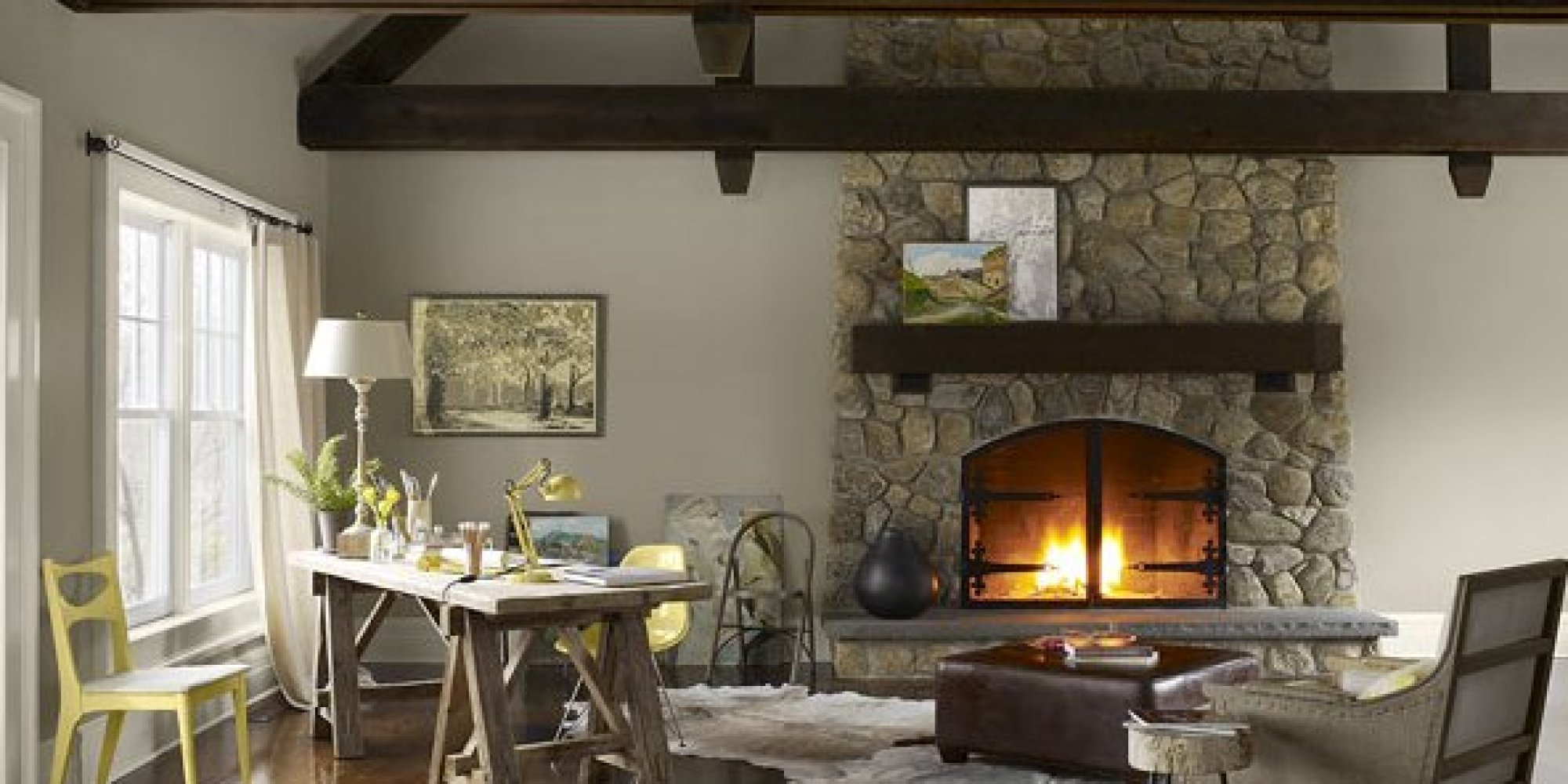 11 incredibly cozy rooms with fireplaces photos huffpost
