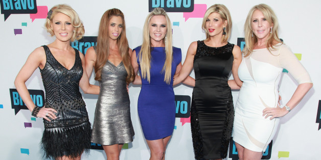 Another 'Real Housewives of Orange County' member is leaving. Here, Gretchen Rossi, Lydia McLaughlin, Tamra Barney, Alexis Bellino, and Vicki Gunvalson of 'The Real Housewives of Orange County' attend the 2013 Bravo Upfront on April 3. (Taylor Hill/FilmMagic)