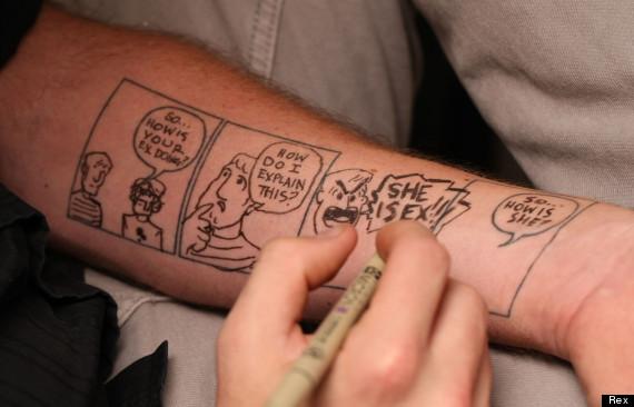 patrick yurick comic strip tattoo art