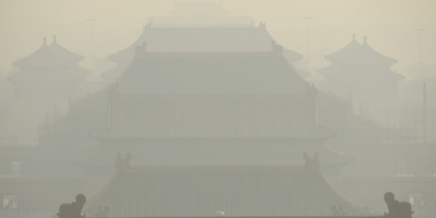 China has ongoing pollution problems, pictured is Beijing