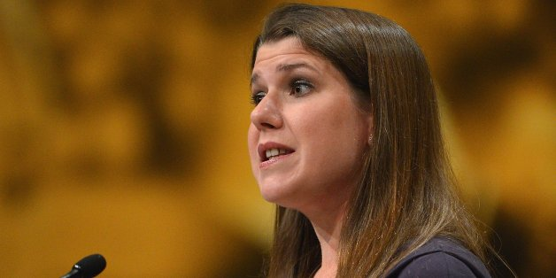 BRIGHTON, ENGLAND - SEPTEMBER 26:  Jo Swinson, Secretary of State for Employment, addresses the Liberal Democrat Party Conference on September 26, 2012  in Brighton, England. Leader Nick Clegg is expected to urge his party to stick with the coalition and insist that the government is on track to deliver a stronger economy when he delivers his keynote speech later.  (Photo by Jeff J Mitchell/Getty Images)