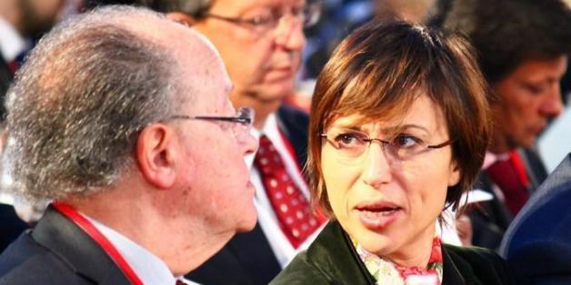 Mustapha Ben Jaâfar, président de l'Assemblée constituante, et Lobna Jeribi, députée d'Ettakatol