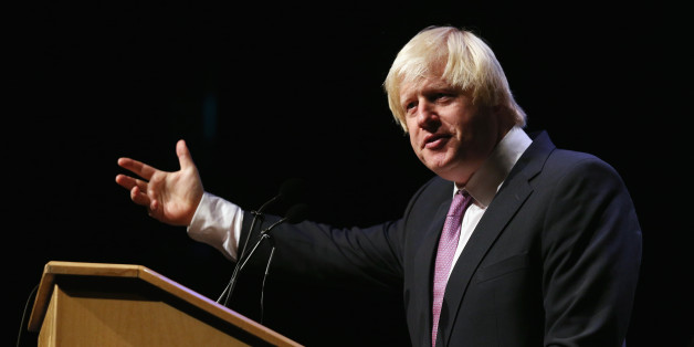 MANCHESTER, ENGLAND - SEPTEMBER 30:  Boris Johnson, the Mayor of London, addresses an audience in a fringe meeting in Manchester Central on the second day of the Conservative Party Conference on September 30, 2013 in Manchester, England. Chancellor of the Exchequer George Osborne has unveiled a Government plan for long-term unemployed people to undertake work placements in order to receive their benefits.  (Photo by Oli Scarff/Getty Images)