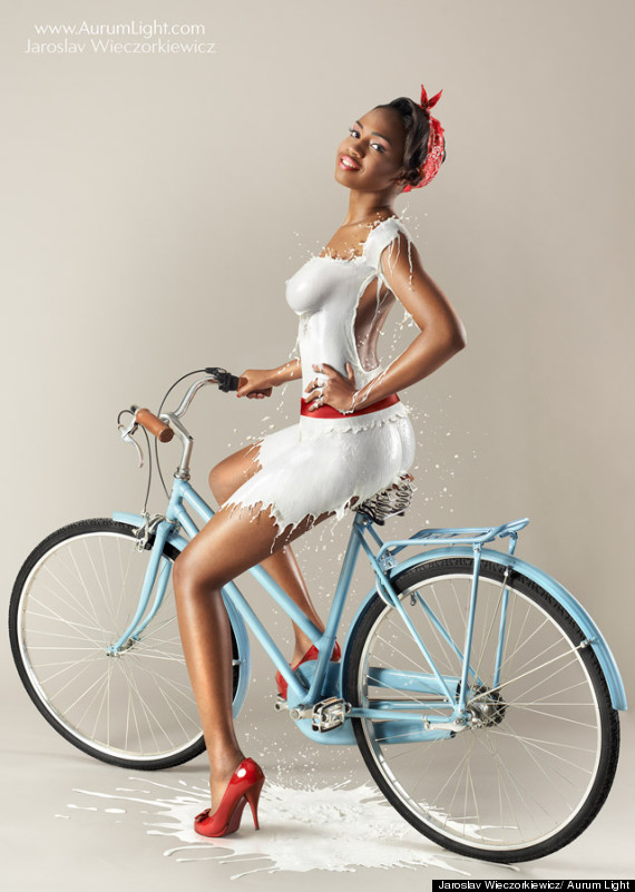 milky pinup girl