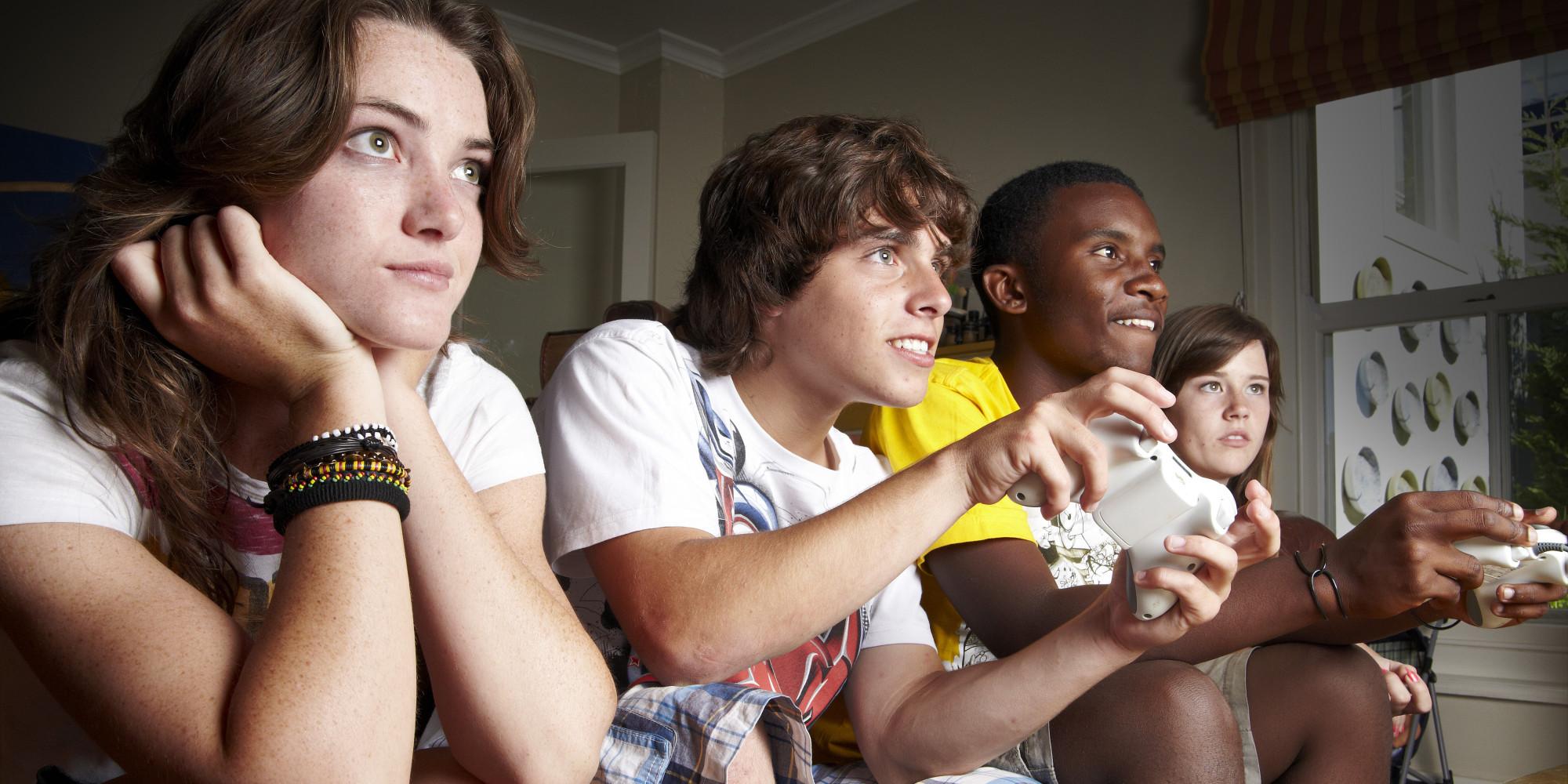games teens video hurting