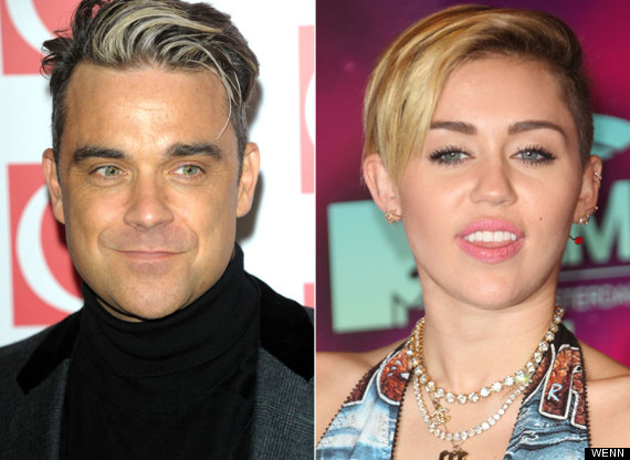 robbie williams miley cyrus