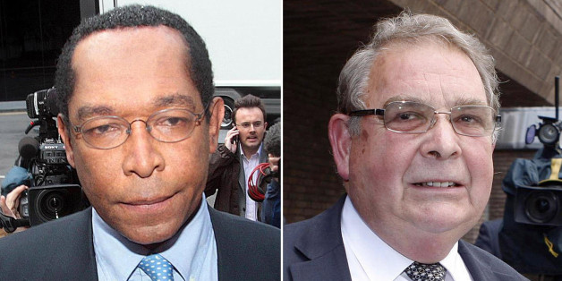 Undated file photos of Lord Taylor of Warwick (left) and Lord Hanningfield who have been freed from prison after serving only a quarter of their sentences for fiddling their parliamentary expenses, sources said.