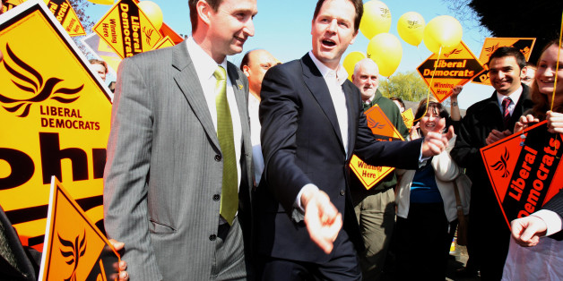 Liberal Democrat Party Leader Nick Clegg, and John Leech (left) Liberal Democrat MP