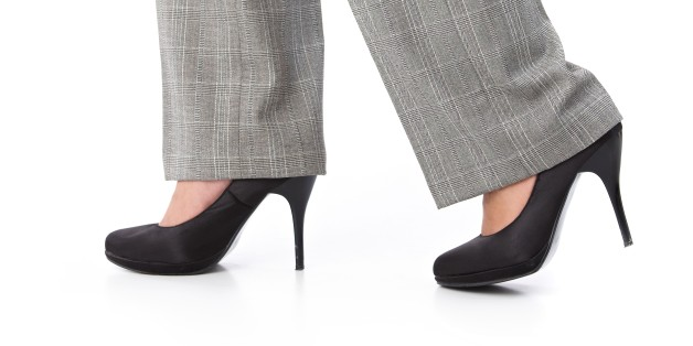 female legs walking in trousers ...