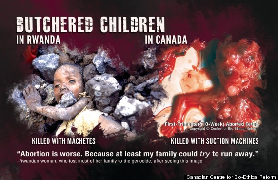 anti abortion postcard