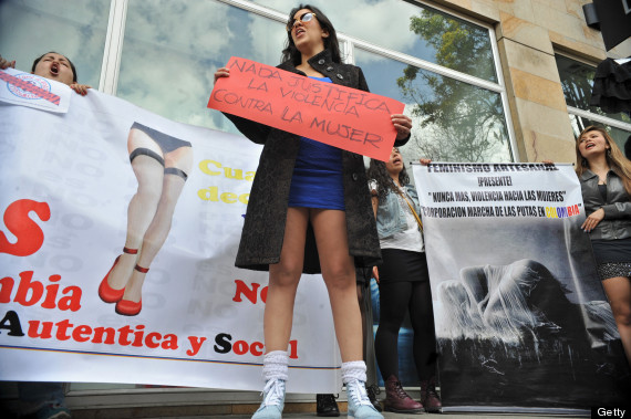 miniskirt anti rape protest colombia