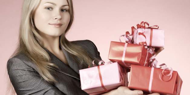 business woman   gift