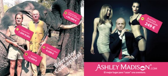 ashley madison rey juan carlos