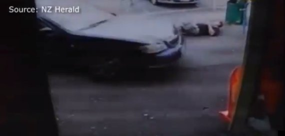 jilted woman drives over man