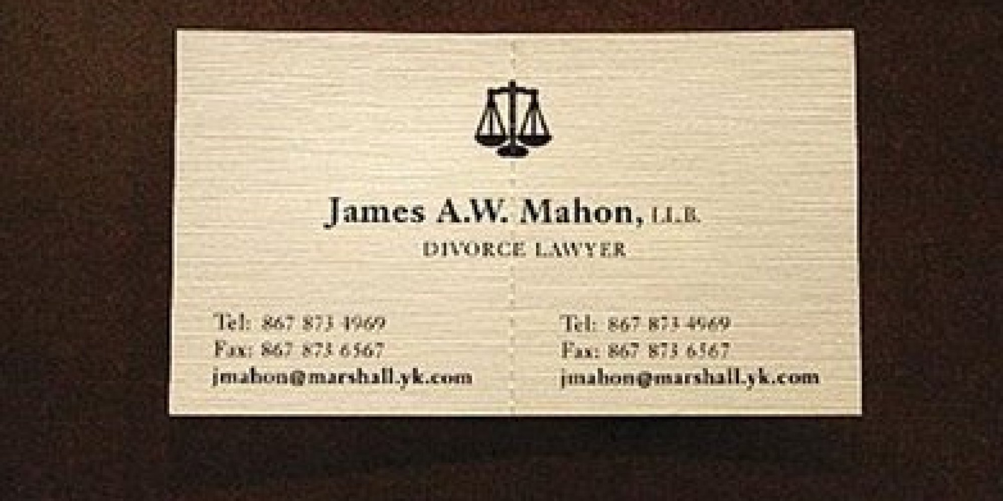 Divorce Attorney S Business Card Is Not What It Seems Photo Huffpost