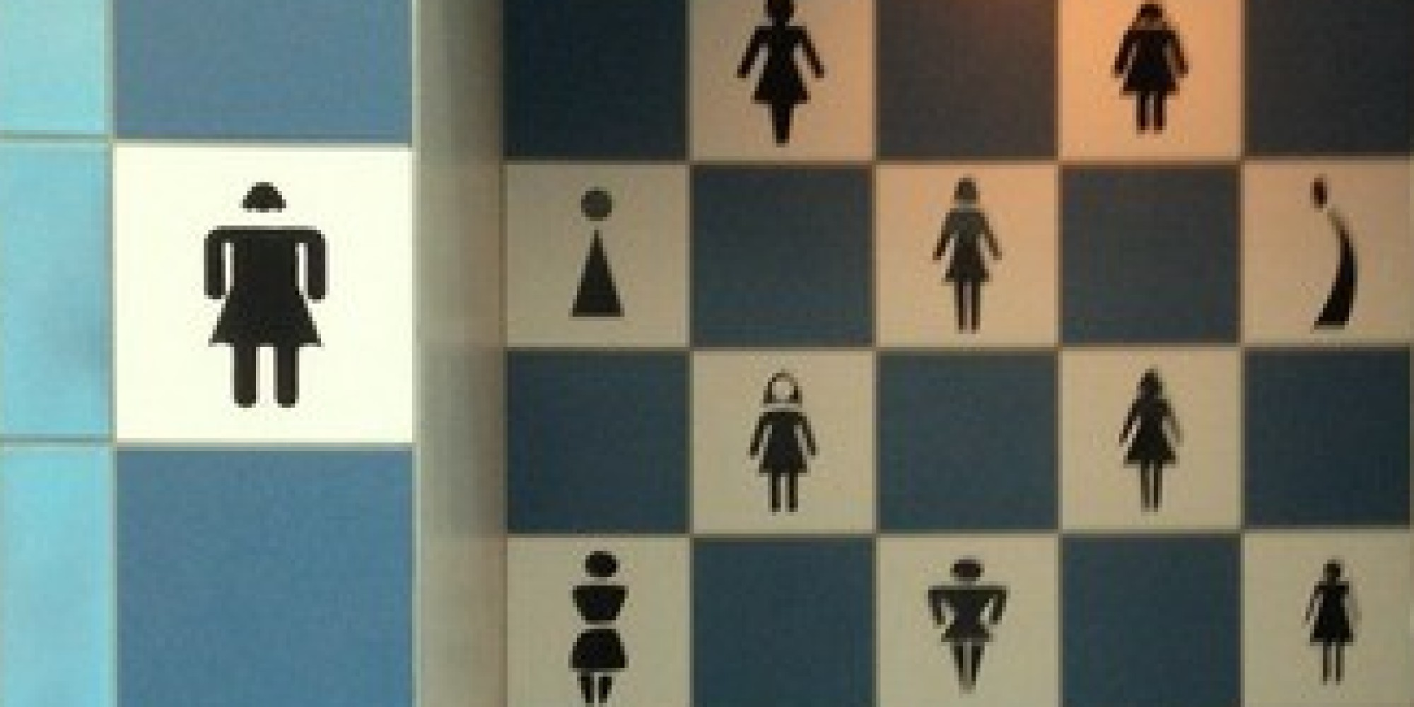Bathroom sign at jacksonville international airport makes for Women s bathroom sign