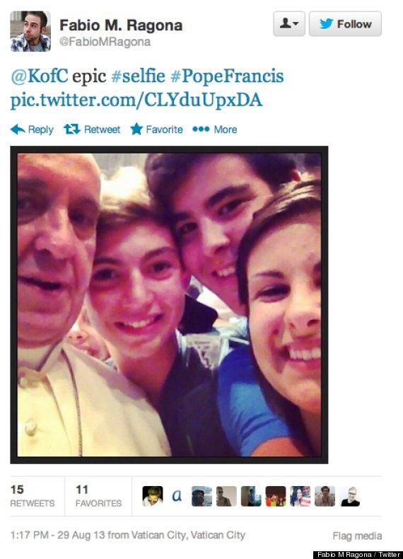 pope selfy