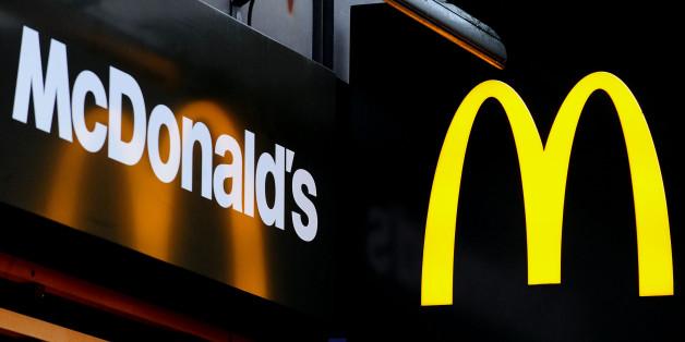 General view of McDonald's logo.