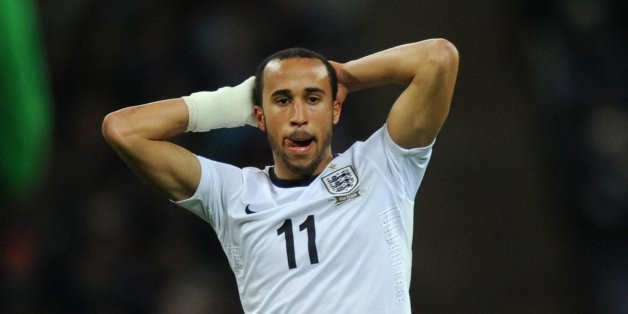 LONDON, ENGLAND - NOVEMBER 19: Andros Townsend of England reacts during the International Friendly match between England and Germany at Wembley Stadium on November 19, 2013 in London, England.  (Photo by Steve Bardens - The FA/The FA via Getty Images)