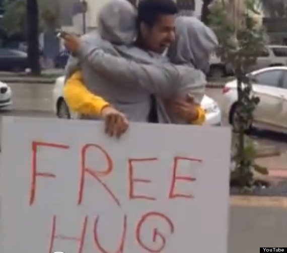 free hugs saudi arabia