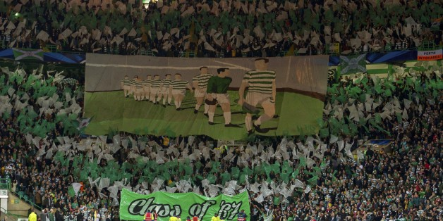 A shot of Celtic fans prior to their home clash with Ajax two weeks before they played in Amsterdam