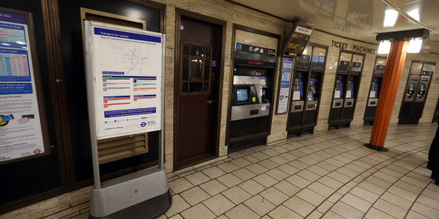 A general view of Quick Ticket machines at Piccadilly Circus Tube Station in central London after Mayor of London Boris Johnson announced a new 24 hour Tube service at weekends and changes to station staffing.