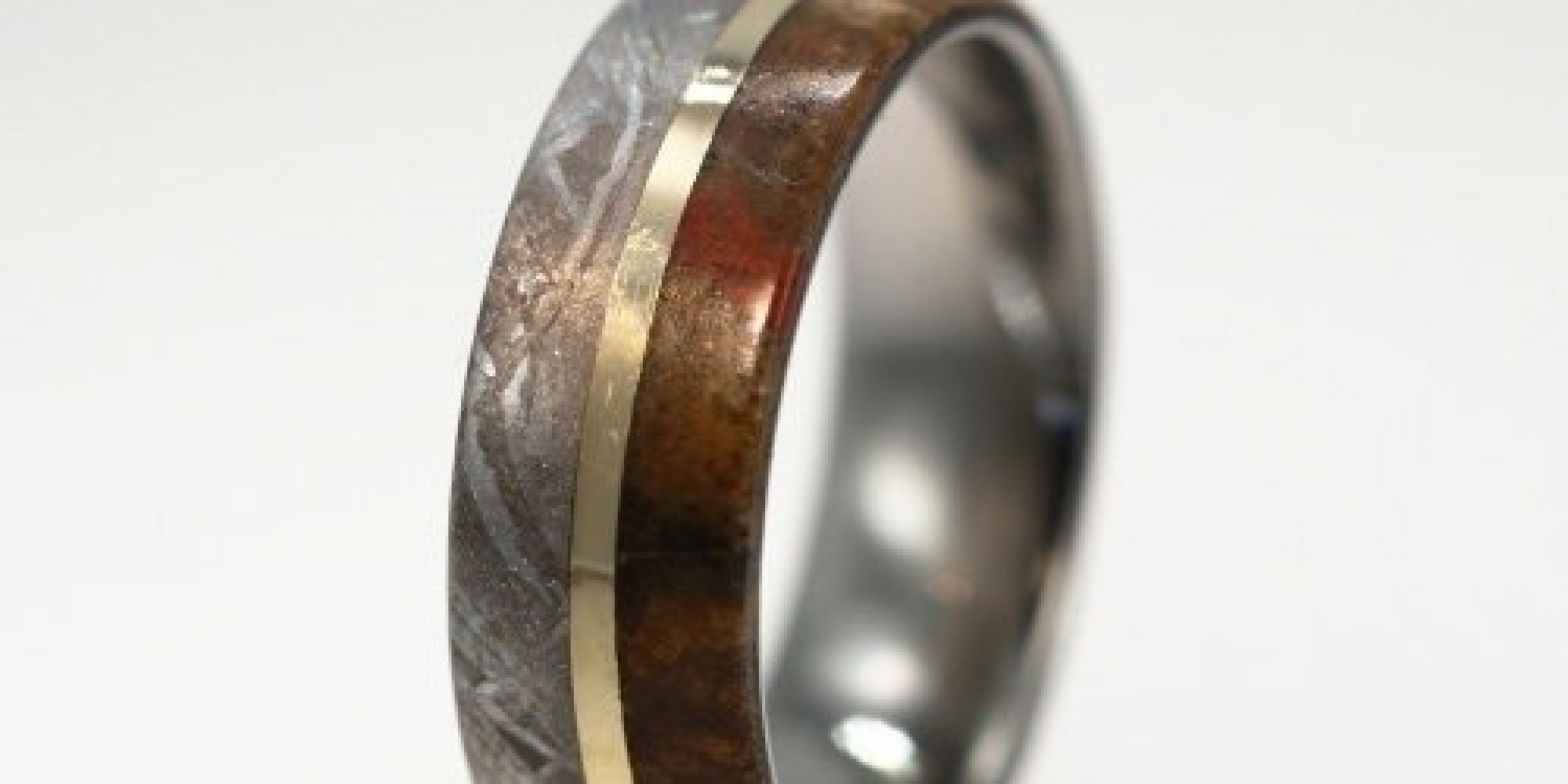 gibeon band bone gane and inlay meteorite unique mokume dinosaur ring wedding with rings media